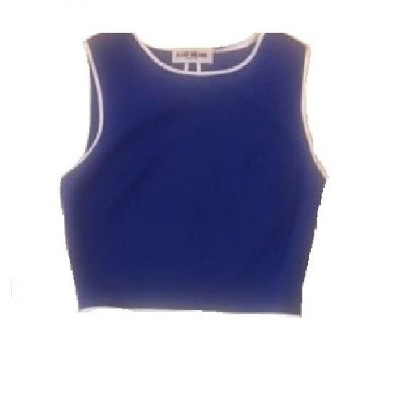 A-LAB Milano Blue Crop Top - Eurockk.com