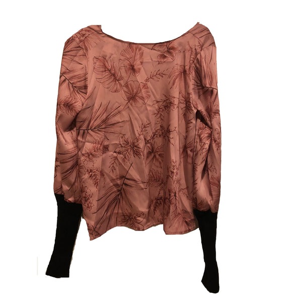 Graphics Pink Floral Top - Eurockk.com