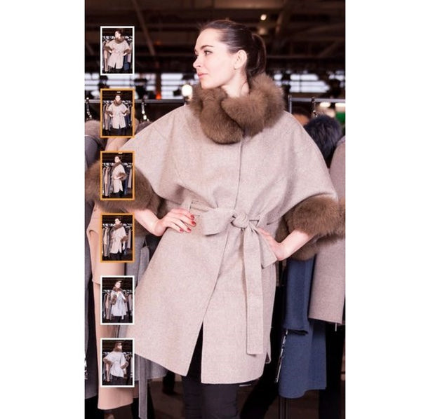 Fox Fur and Cashmere Cape - Eurockk.com