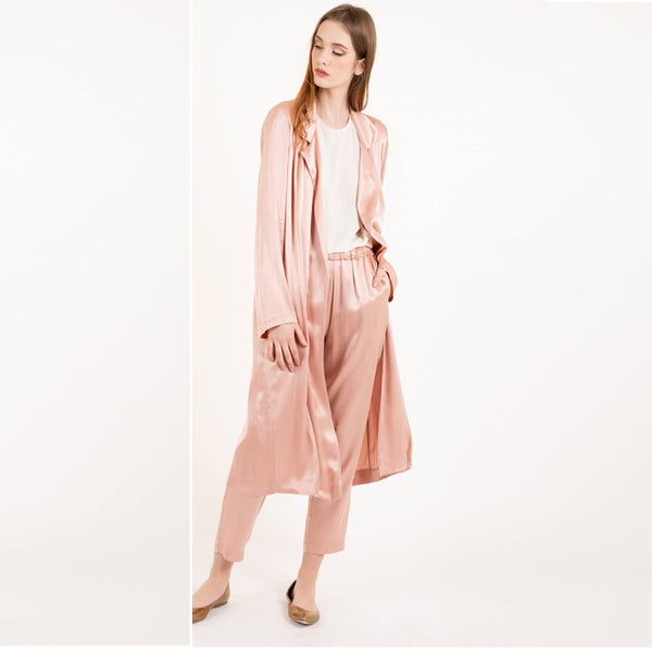 Blush Pink Satin Soft Pant