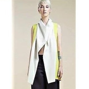Fluo Leather Collar Kaftan - Eurockk.com