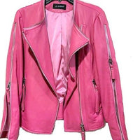 Rosy Fushia Leather Jacket - Eurockk.com