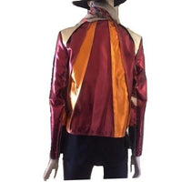Red Metallic Leather Jacket - Eurockk.com