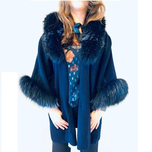 Royal Luxe Wool and Fox Fur Jacket - Eurockk.com