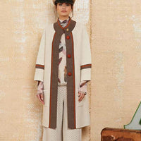 ICELAND Off White and Red Coat - Eurockk.com