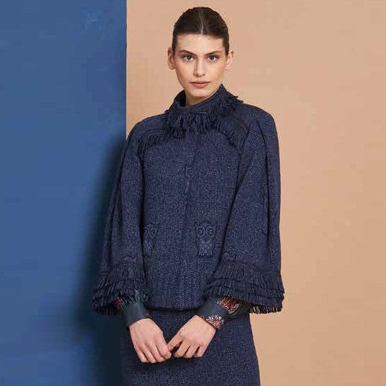 Blue Owl Navy Wool Jacket - Eurockk.com