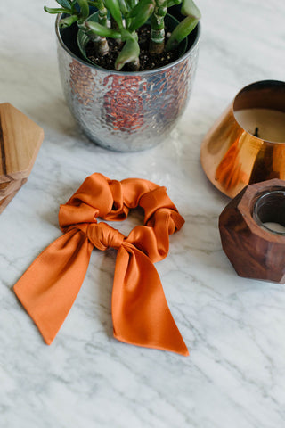 Orange Silk Scrunchie