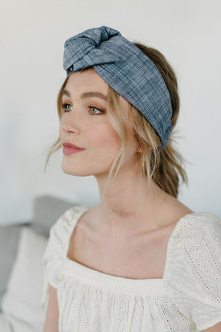 Chambray Turban Headband
