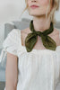 Olive Scalloped Edge Bandana