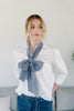 Chambray Wide Long Scarf