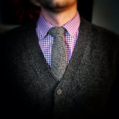 lvj grey donegal tweed