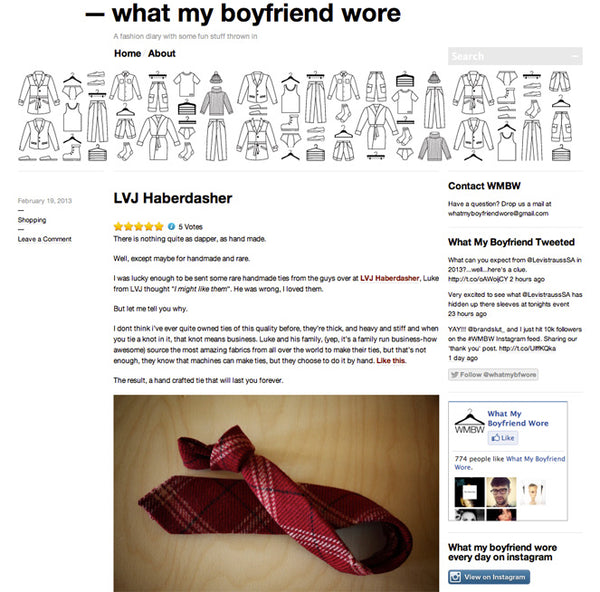lvj feature on what my boyfriend wore