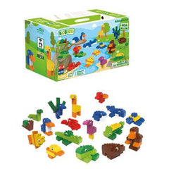 Biobuddi Educational Blocks, Animals, Set