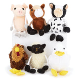 Finger Puppets, Farm Animals, Set of 6