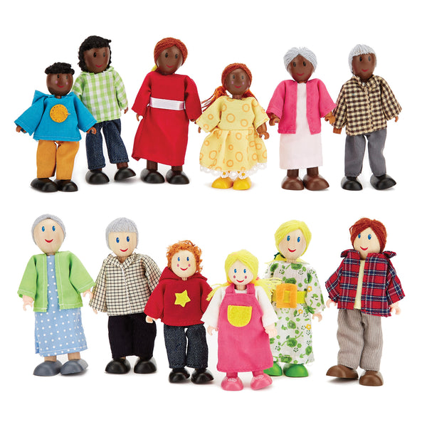 Happy Doll Families Set, Age 3+, Set of 12
