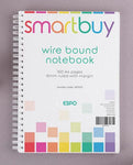 Twin Wire Bound Notebook A6, 160 Pages (80 Sheets), 8mm Ruled With Margin