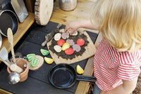 Sensory Play Stones, Pizza Toppings, Set