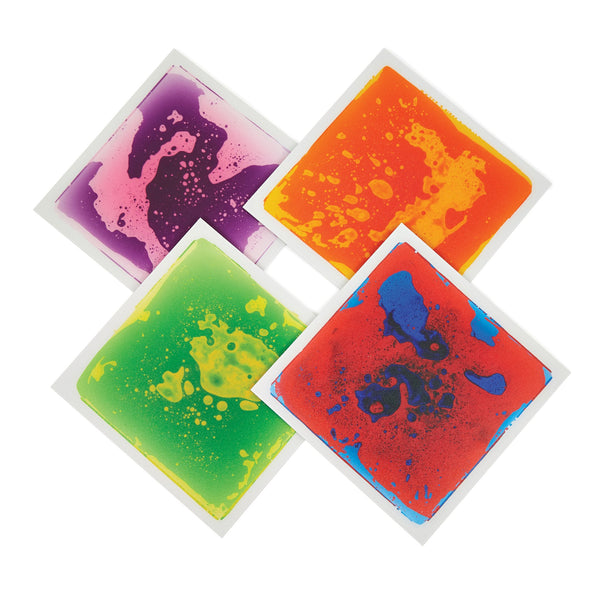 Small Liquid Floor Tiles, Set of 4
