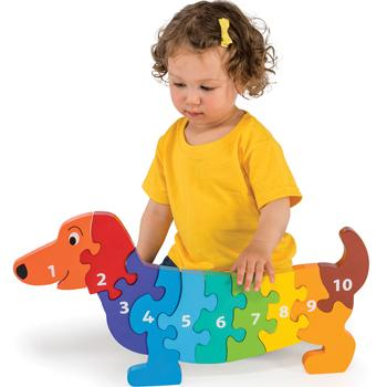Counting, Jumbo Dog 1-10, Age 2+, Set
