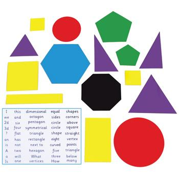 Magnetic 2D Shape Set of 15