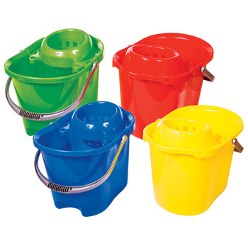 Bucket, Mop, Plastic, 12 litre (2.6 gallon), Each