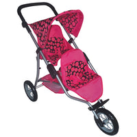 Role Play, 3 Wheeled Double Seat Stroller, Age 3-5, Each