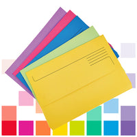 Smartbuy, Document Wallets, Foolscap, Brights, 300gsm, Assorted, Box of 25