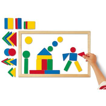 Magnetic Board & Shapes, Age 2+, Set of 38