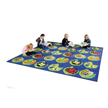 Kit For Kids, Back To Nature(TM) Carpets, Square Bug Placement Carpet, 3000 x 3000mm, Each