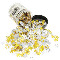 Sequins, White, Gold & Silver, Tub of 100g