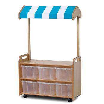 Playscapes(TM)  Role Play Zone, Mobile Tall Unit (With Shop Canopy)