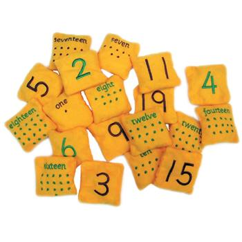 Bean Bag Numbers, Set of 20