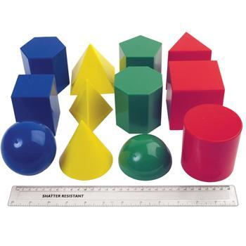 Geometry, Large Shape Set of 12