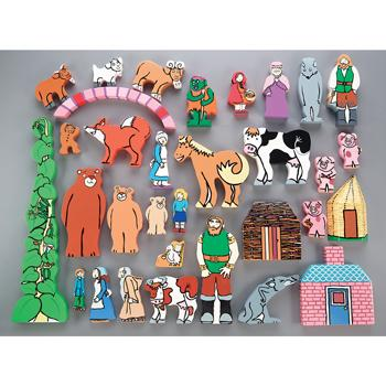 Traditional Tales Wooden Character Set, Age 3+, Set of 32