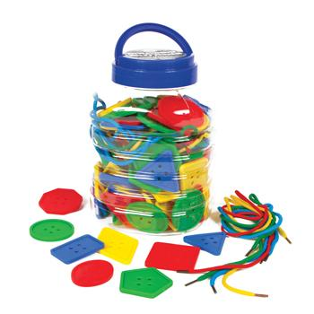 Giant Lacing Buttons, Age 3+, Set