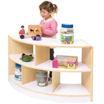 Alps Series, Shelves, Open Back 2 Shelf Curved Unit, Each