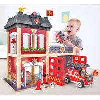 Wooden Toys, Fire Station, Each