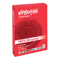Copier Paper, Recycled, Evolution 'Everyday' White, 75gsm, A4, Box of 5 Reams