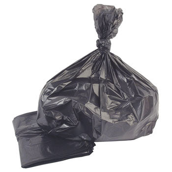 Refuse Sacks, Black, 90 Litres, Medium Duty, Box of 200