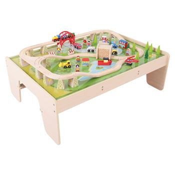 Railway Playtable, Age 3+, Set of 59 Pieces