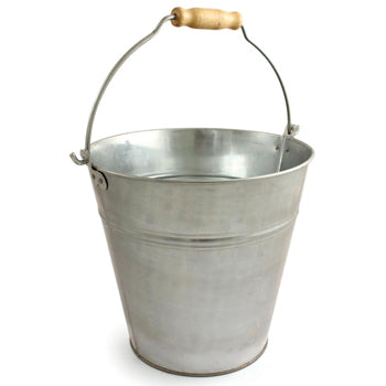 Galvanised Bucket, 12 litre, Each
