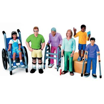 Block People, With Disabilities, Set of 6