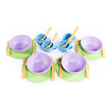 Green Toys, Dish Set, Age 2+, Set of 24 Pieces