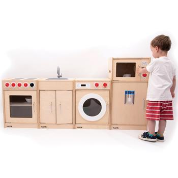 Simple Role Play Wooden Kitchen, Age 3+, Set of 4