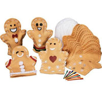 Gingerbread Puppet Making Kit, Pack of 30
