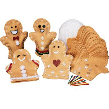 Gingerbread Puppets, Pack of 30
