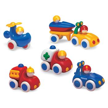 Tolo Baby Emergency Vehicles, Age 6 months+, Set of 7 pieces
