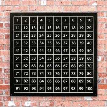 Outdoor Chalkboard 1-100 Number Square, Each