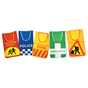 Role Play, Road Safety Tabards, Set of 5