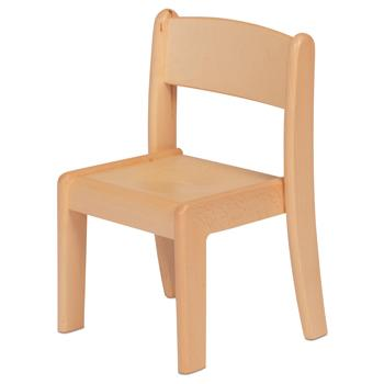Millhouse Beech Stacking Chair, Pack of 4